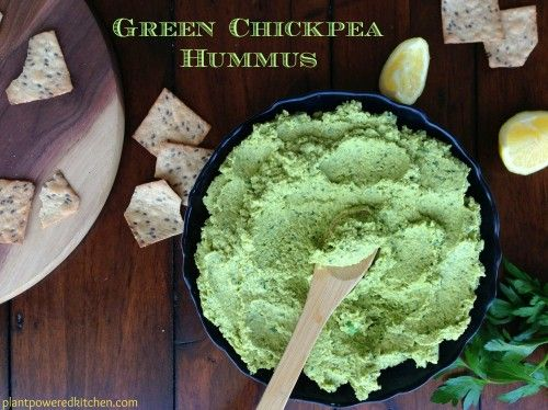 Green Chickpea Hummus