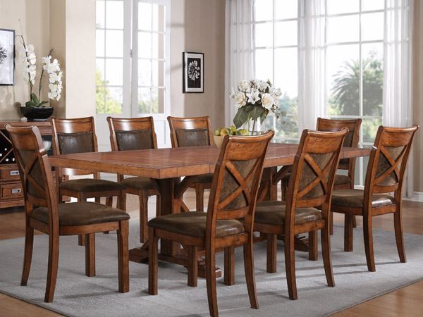 American Furniture Warehouse Dining Chairs Dining Room Sets Brown Dining Table Rustic Dining Table Set