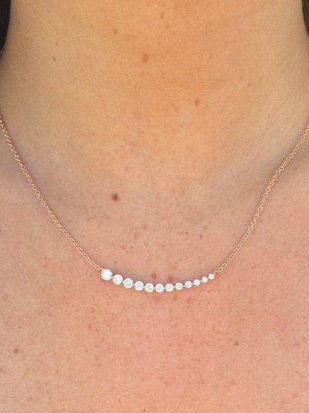 Floating Diamond Necklace Anita Ko 4 850 Amazing