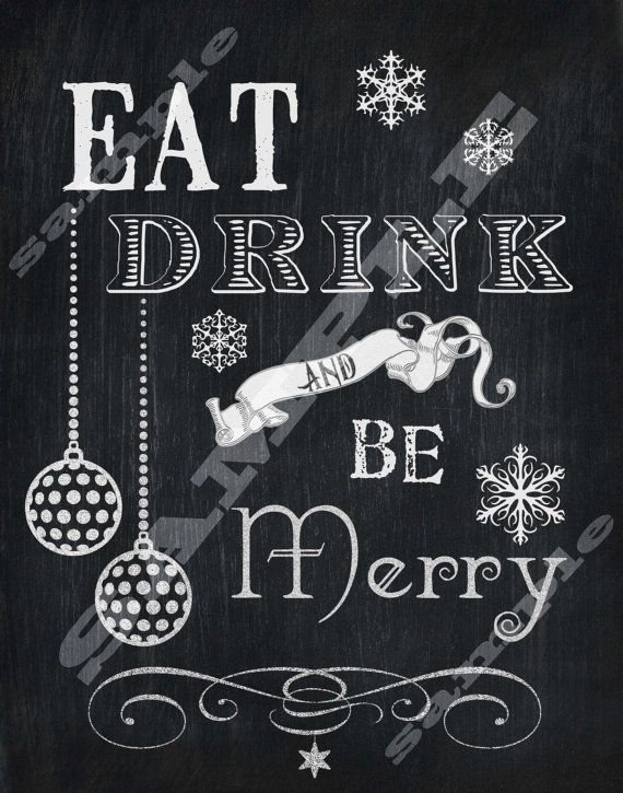 Chalkboard Style Eat Drink and Be Merry Subway di tinyblessingstx