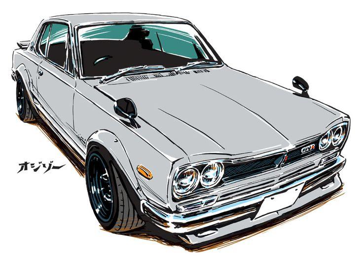 Nissan Skyline GT-R [KPGC10] Hakosuka My art work. (C) ozizo