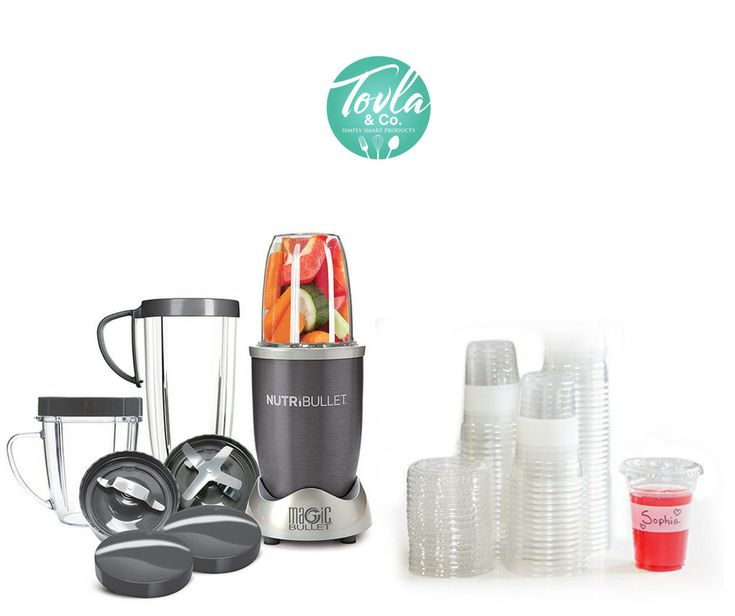 Enter to win: A NutriBullet and a year supply of disposable smoothie cups with lids!