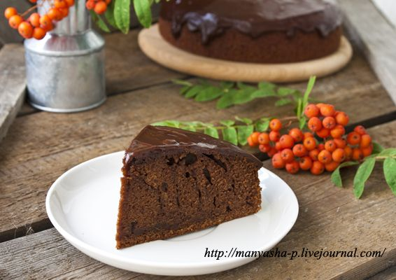 Шоколадный пирог с темным пивом