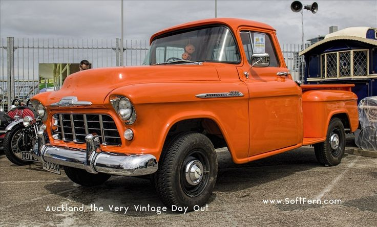 Orange 1956 Chevrolet 1300 pickup truck        Auckland, the Very Vintage Day Out. ... 28  PHOTOS        ... Aucklanders welcome to The Very Vintage Day Out 2017. It is running at Shed10        Original article:         http://softfern.com/NewsDtls.aspx?id=1138&catgry=7            SoftFern News, SoftFern photos, photos by SoftFern, Sergiy Bondar, SoftFern Auckland News, New Zealand News, Auckland, Austin, Auckland, the Very Vintage Day, Very Vintage Day Out, Shed10, Very Vintage Day, VVDO…