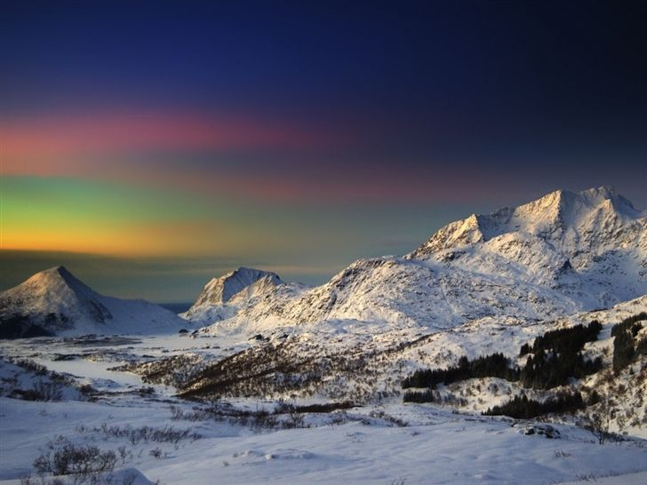 Winter Morning In The Mountains Mac Wallpaper Download | Free Mac Wallpapers Download
