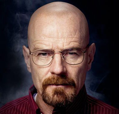 bald men pictures | Photo of Walter White bald head, mustache, and goatee.
