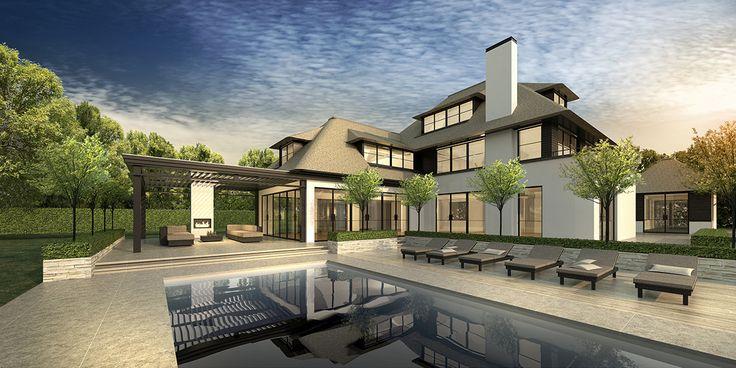 Modern klassiek villa Belgie, riet, gekaleid