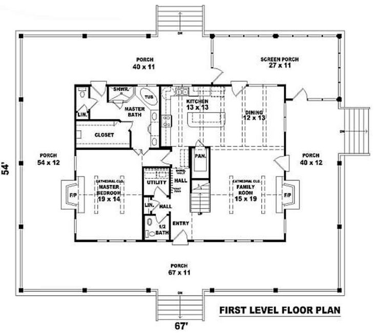 Havens South Designs likes Plan 81-101, a country farm house style. Main Floor Plan