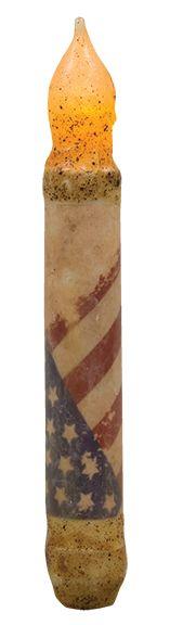 KP Creek Gifts - Vintage Flag Timer Taper - Burnt Ivory
