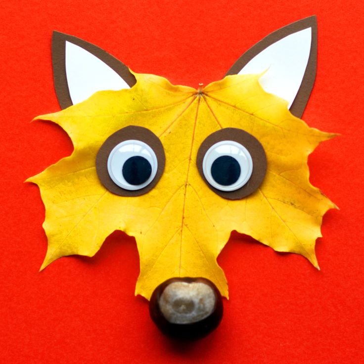 Herbstlicher Löwe mit Blättern basteln – Basteln in unter 20 Minuten