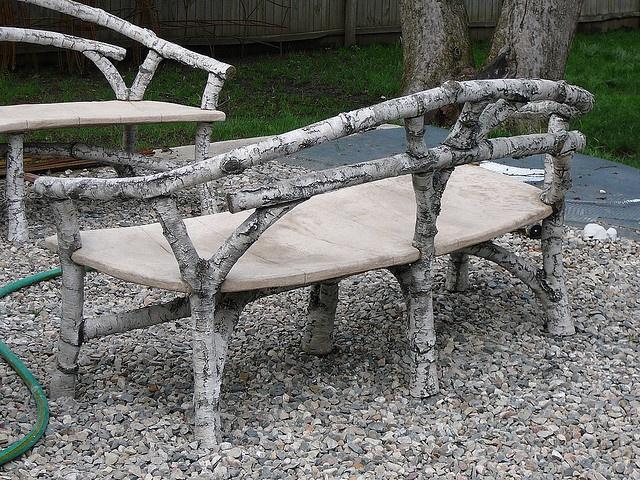Faux Bois Furniture | ... Birch Faux Bois Concrete Cement Faux Bois Bench  Chair