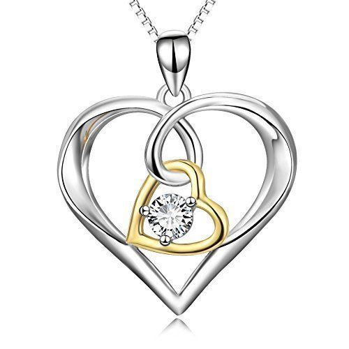 Valentines Day Gift Necklace Pendant for Women Girls Anniversary Love Heart NEW #ValentinesDayGiftNecklacePendant #Pendant