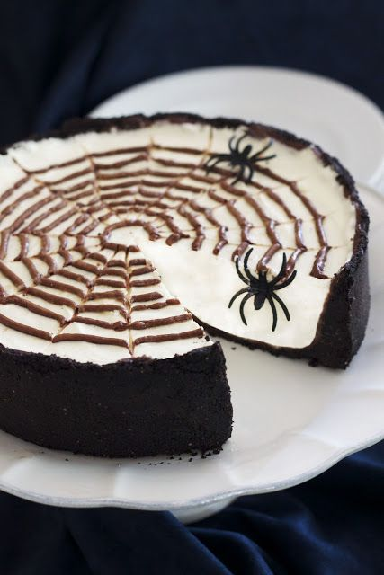 No-Bake Cheesecake looks like a good recipe but minus the spiders =)