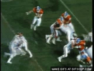 """Steve Atwater laying the boom on one of the most feared power running backs known as the """"Nigerian Nightmare"""""""
