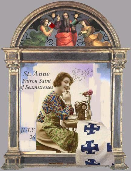 QUILTERS PATRON SAINTS: St. Anne is the Patron Saint of