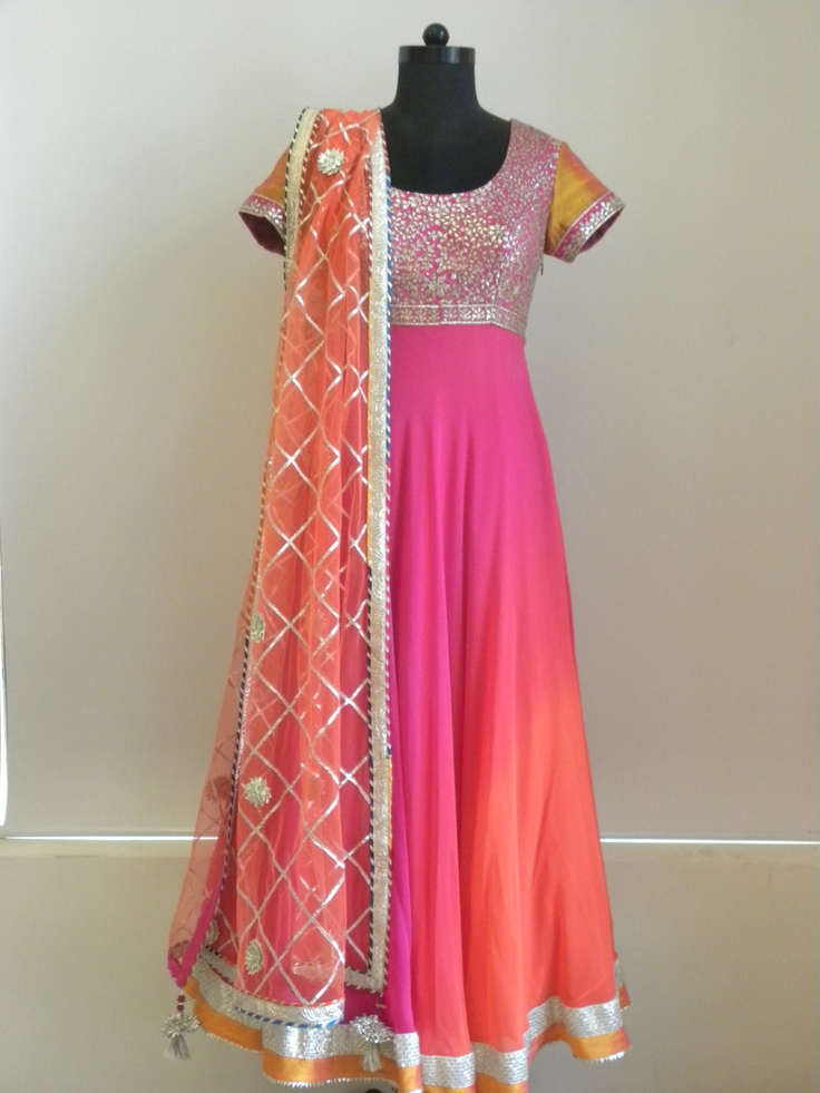 Anarkali with gota work