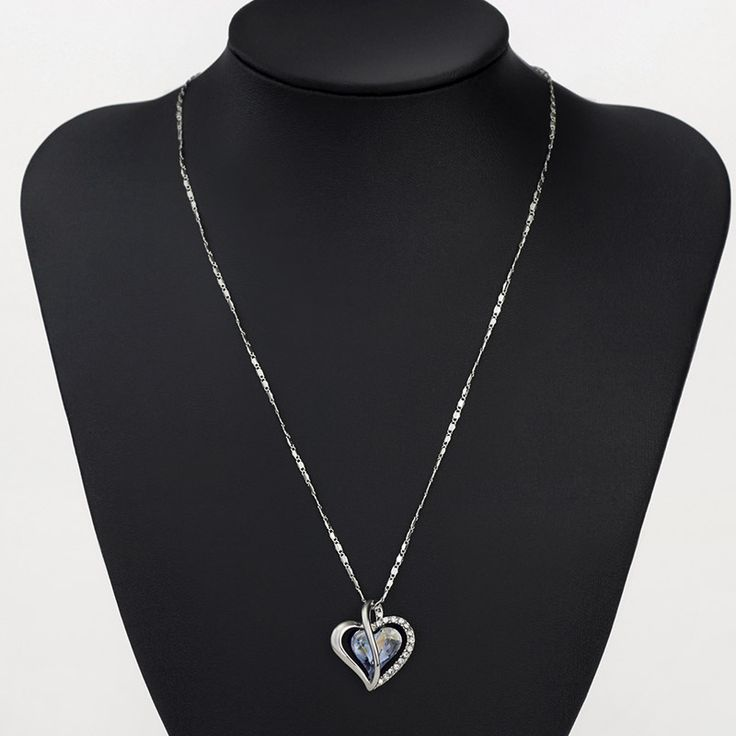 Blue Heart Love Gifts Chokers Necklaces & Pendants For Women New Teen Girls Charm Fashion Jewelry He1 He-b B1 Like and share! www.lolfashion.ne... #Jewelry #shop #beauty #Woman's fashion #Products