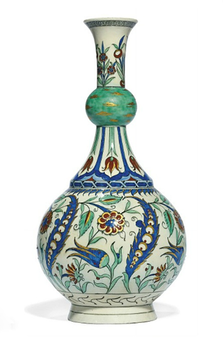 A SAMSON IZNIK-STYLE BOTTLE FRANCE, LATE 19TH CENTURY