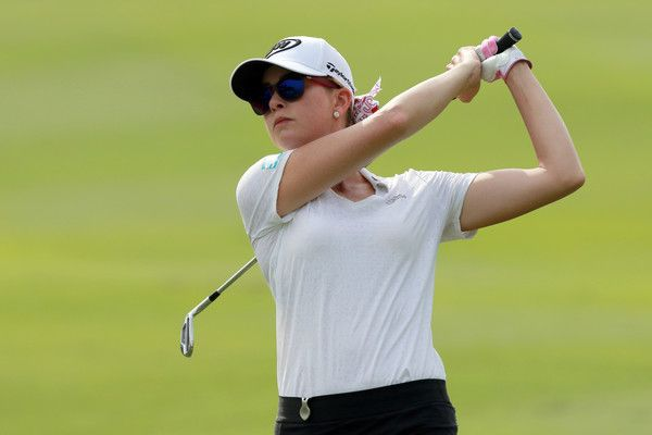Paula Creamer Photos Photos - Paula Creamer of the United States in action during day one of the Sime Darby LPGA at TPC Kuala Lumpur on October 27, 2016 in Kuala Lumpur, Malaysia. - 2016 Sime Darby LPGA - Day 1