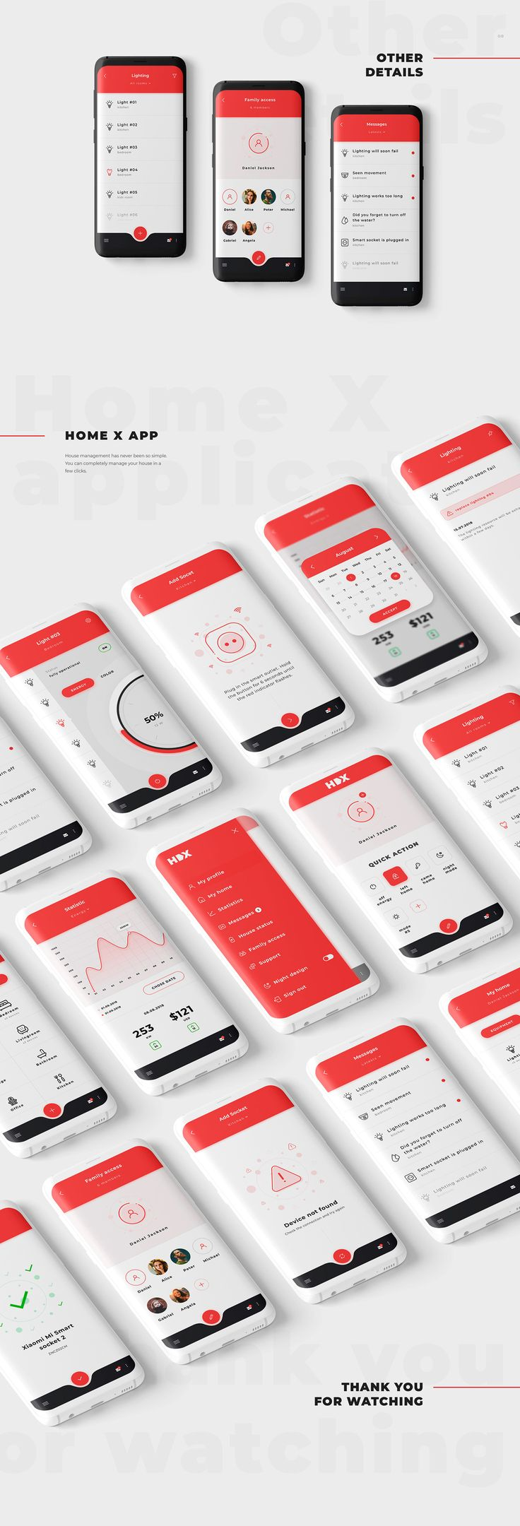 Smart home application on Behance Android app design
