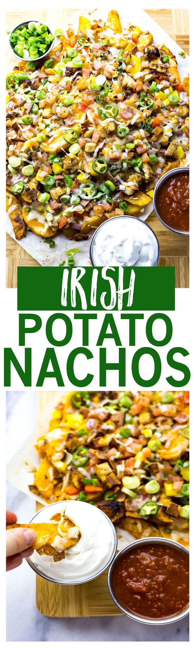 30-Minute Irish Potato Nachos are such a fun way to celebrate St. Patrick's Day, and a healthier way to enjoy pub grub!