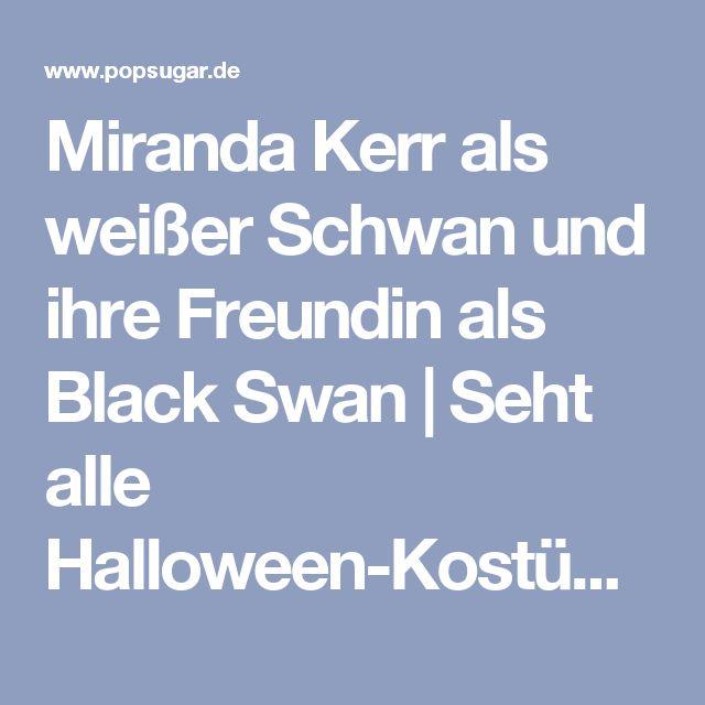 Miranda Kerr als weißer Schwan und ihre Freundin als Black Swan | Seht alle Halloween-Kostüme der Stars | POPSUGAR Deutschland Stars Photo 1