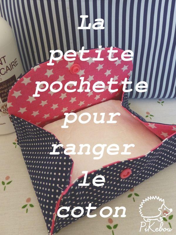 pochette range-coton - Une bonne idée pour le sac à langer du petit poussin