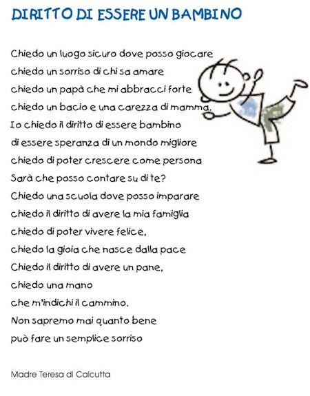Poesia diritti del bambino