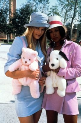 Alicia Silverstone (as Cher Horowitz) and Stacey Dash (as Dionne Davenport)…