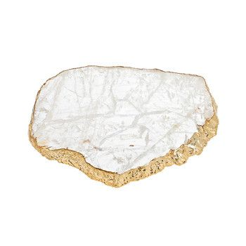 Anna New York - Kiva Platter - Crystal / Gold - Medium