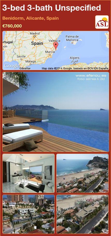 3-bed 3-bath Unspecified in Benidorm, Alicante, Spain ►€760,000 #PropertyForSaleInSpain