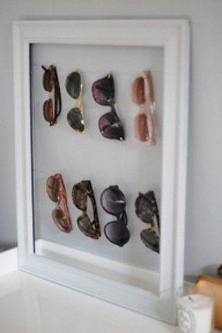 Onde guardar tantos óculos? Meu marido tem mania de óculos… Como é difícil…