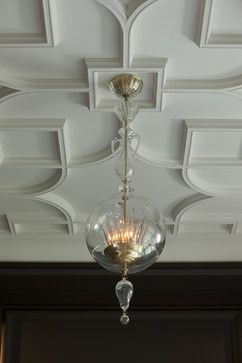 Salon Ceiling Detail - spaces - chicago - dSPACE Studio Ltd ONE OF THE LOVELIEST COFFERED CEILINGS I'VE SEEN. done as a plaster tracery with more than 100 plaster molds...