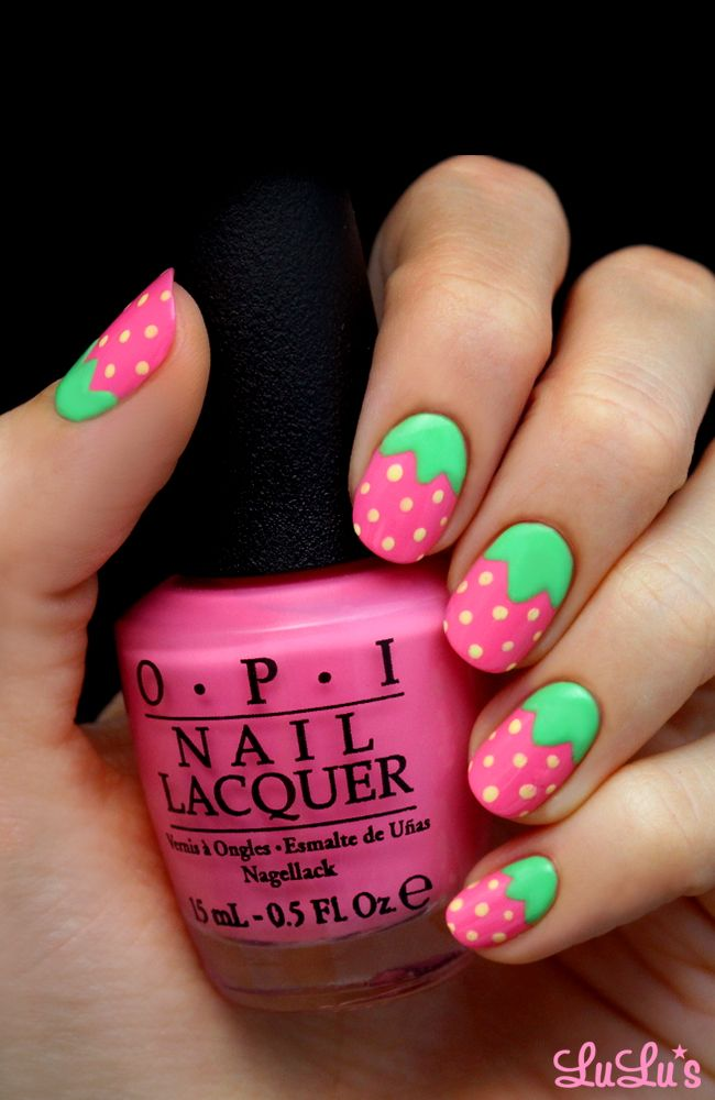 Pink Strawberry Nails--I want I want I want!!!!