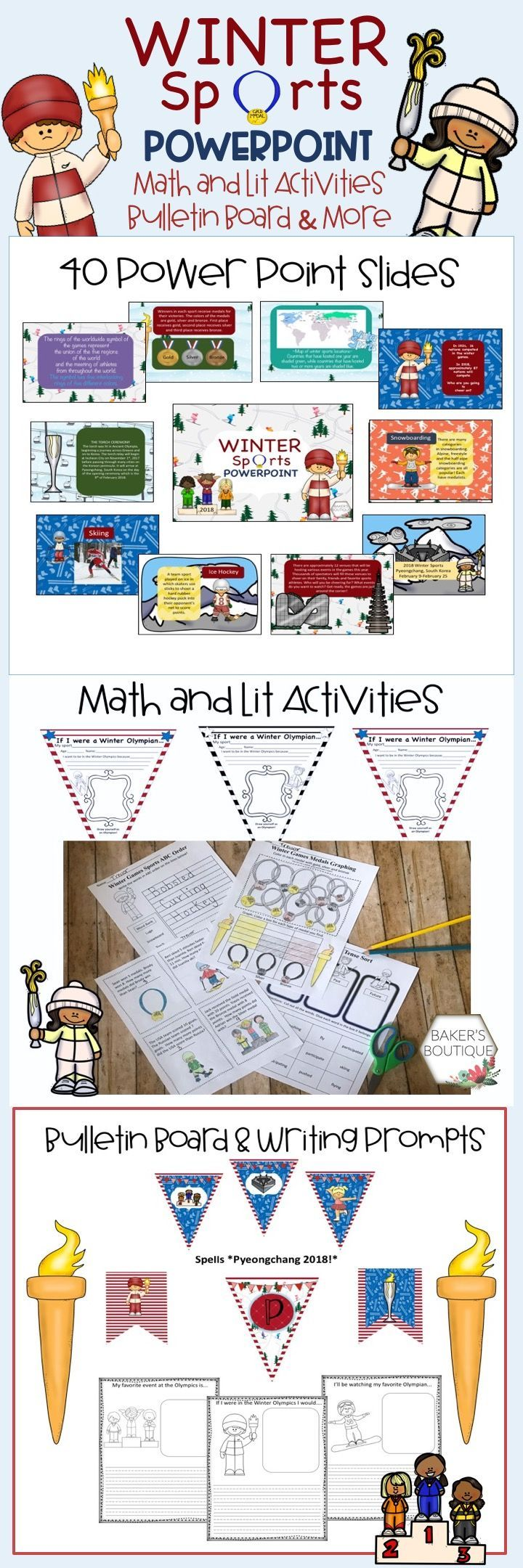 Back By Popular Demand Let The Games Begin With Your Students This Olympics Mega Pack Has Been Loved And Elementary Worksheets Preschool Olympics Winter Math [ 2160 x 720 Pixel ]