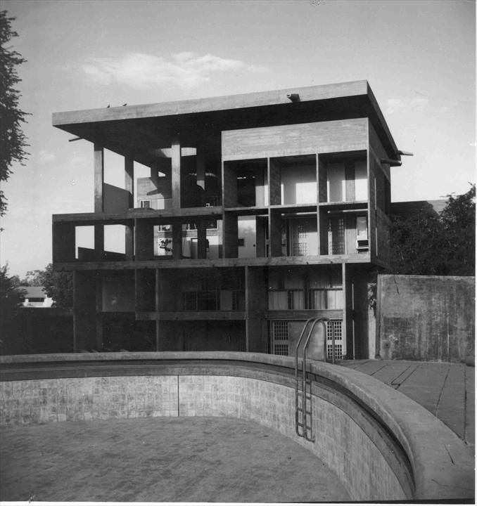 fondation le corbusier buildings villa shodhan arch 2 le corbusier pinterest brut. Black Bedroom Furniture Sets. Home Design Ideas