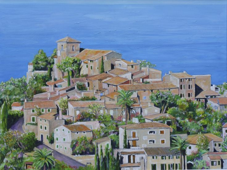 Deia, Mallorca Painting by Alan Hydes