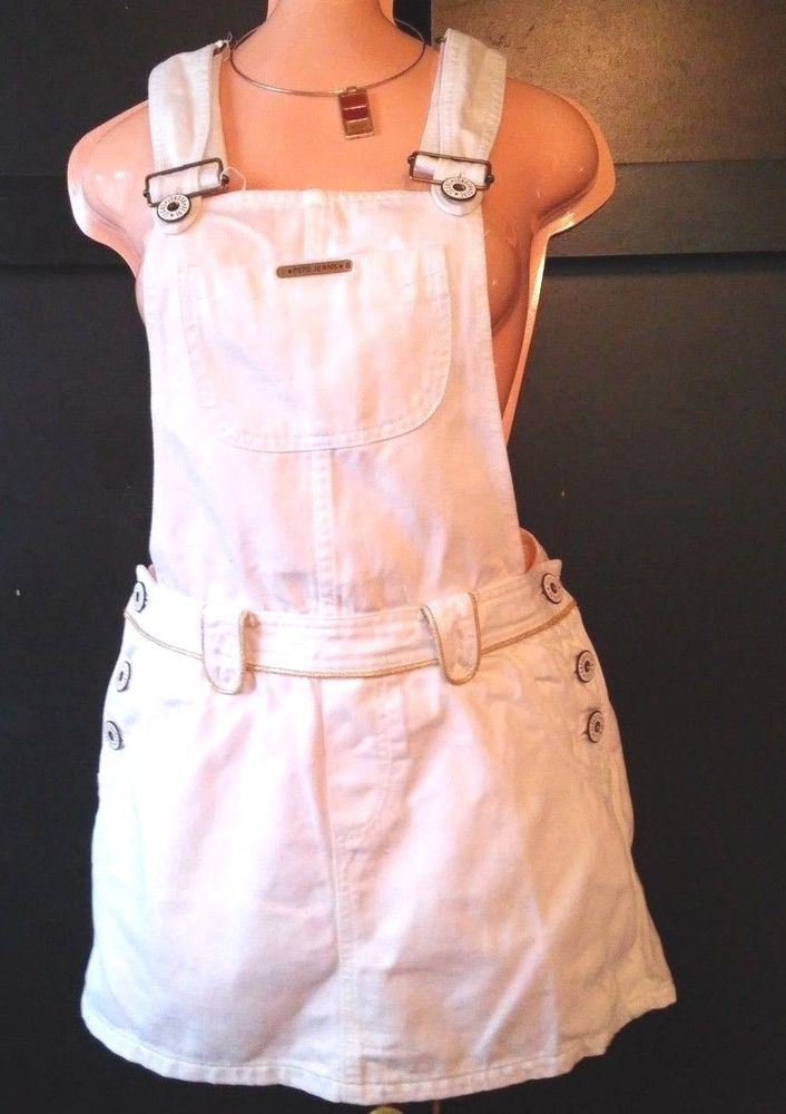 PEPE JEANS LONDON  Mini Skirt JUMPSUIT  DENIM  SZ L Juniors! #pepejeanslondon #Jumpsuit