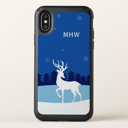 Reindeer illustration custom monogram phone cases - monogram gifts unique design style monogrammed diy cyo customize