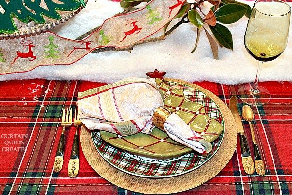 Trees and Tartans Christmas Table