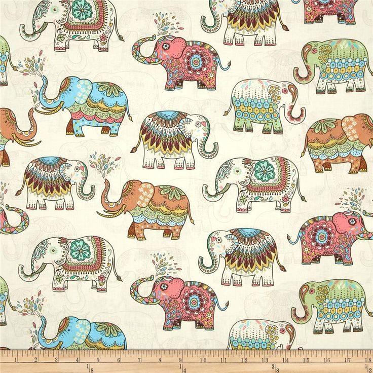 50*140cm japanese vintage diy handmade fabric patchwork print kimono elephant lucky fabric for Quilting cloth home textiles