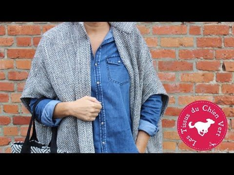 DIY la cape en laine - YouTube