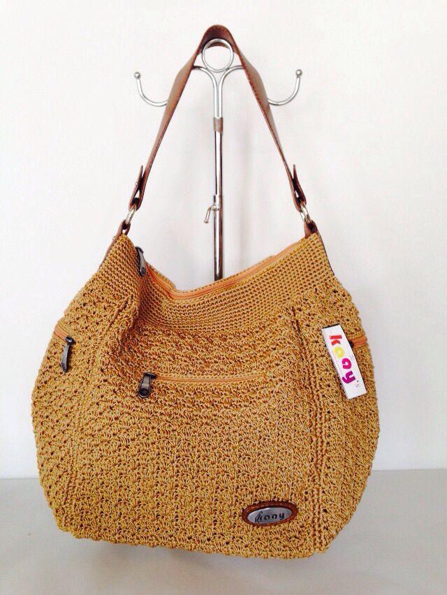 Pocket 3 Mango // Ukuran: 48x30x14cm // IDR: Rp 295.000  #katalog #tasrajut