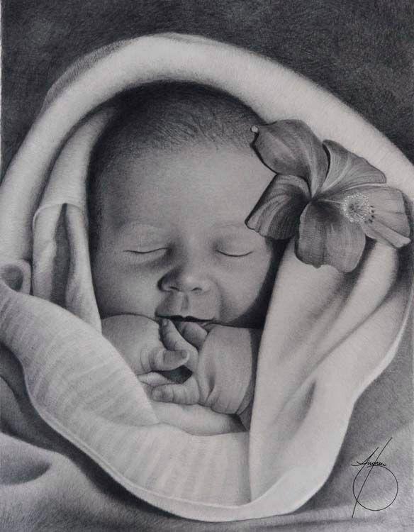 Картинки с младенцем нарисованные
