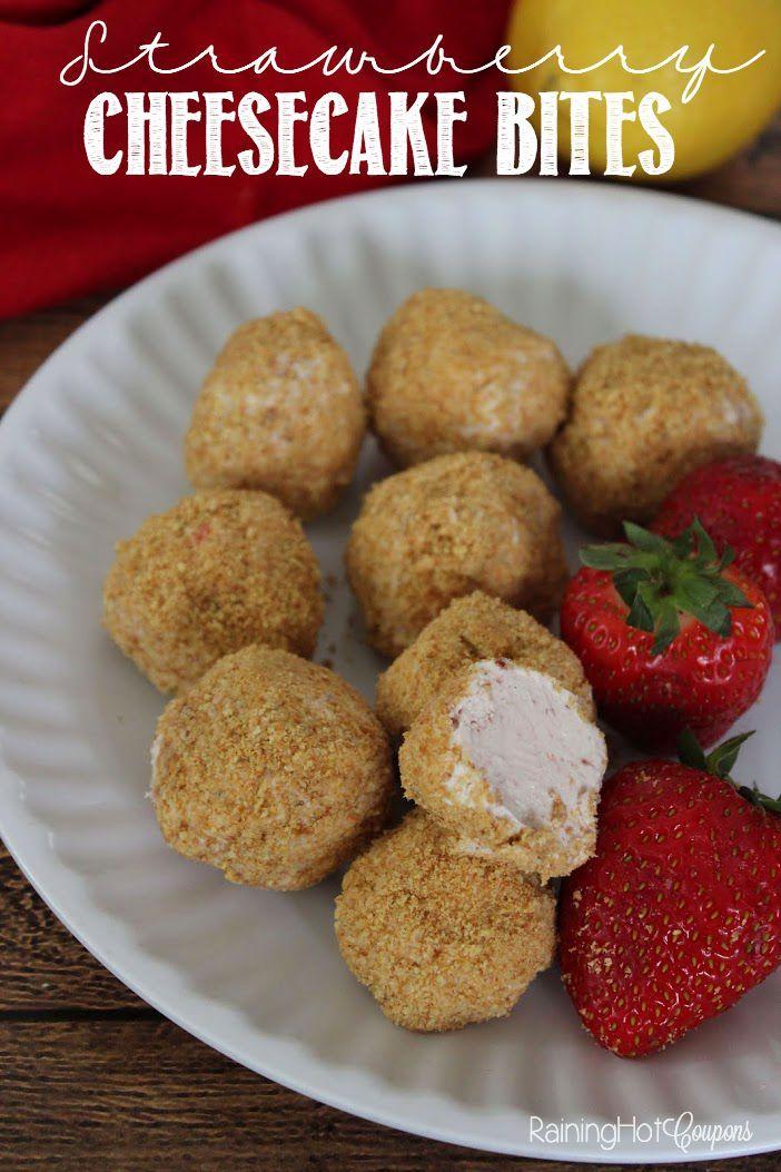 Simple Strawberry Cheesecake Bites