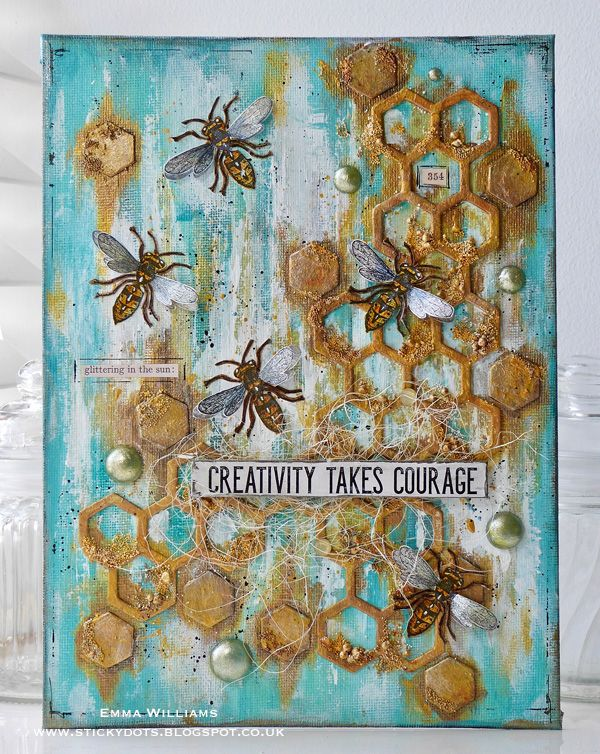 Busy, Busy Bees: Created by Emma Williams for the Simon Says Stamp Monday Challenge Blog