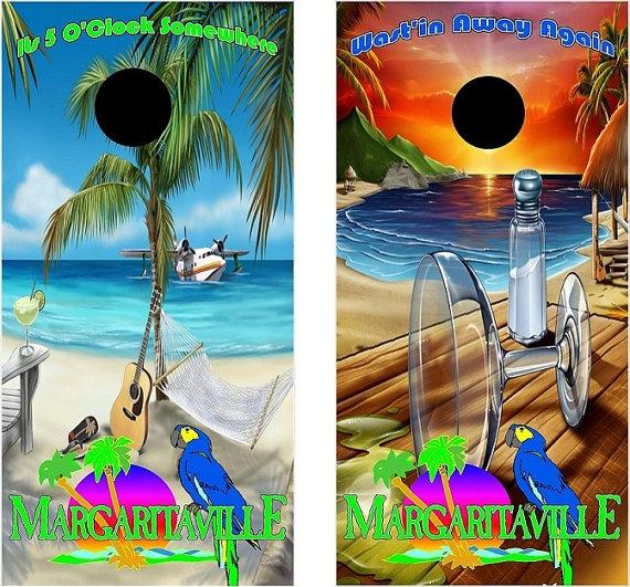 Margaritaville Cornhole Wrap Set 2 Decals 24x48 By