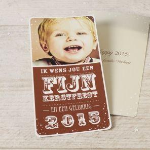 Fotokaart   Tadaaz #kerstfeest #fotokaart #bruin #bestewensen