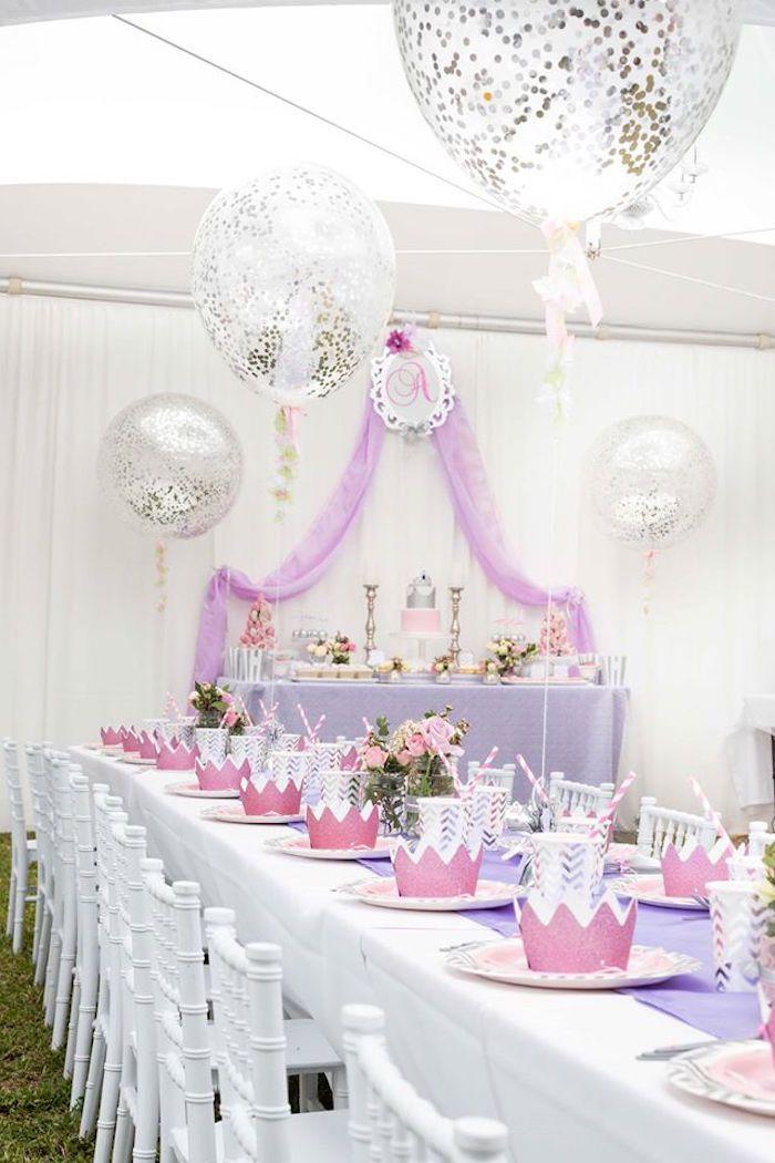 Elegant Purple Princess Birthday Party on Kara's Party Ideas   KarasPartyIdeas.com (6)