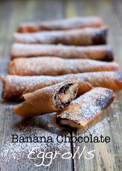 Red Shallot Kitchen: Banana Chocolate Eggrolls